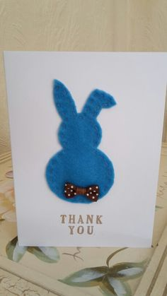 Handmade by Hoppy - Thank you card