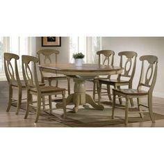 Tms 7 Piece Farmhouse Dining Set Oak Dining Room