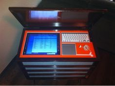 Make a Jukebox from your old Computer– This project can double as a Pandora listening station or as an iTunes jukebox networked to computers and speakers all over your house. All you need are speakers, a couple extra USB drives to add space/speed to the dinosaur, a cabinet (or old school record player) and some funky lights.