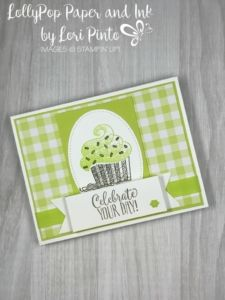 Hello Cupcake Stamp Set with Gingham Gala DSP Celebrate Your Day card by Lori Pinto Birthday Cards For Women, Handmade Birthday Cards, Greeting Cards Handmade, Birthday Images, Birthday Quotes, Card Making Inspiration, Making Ideas, Happy Birthday Cupcakes, Cupcake Card