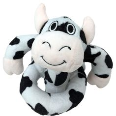"""Loopies 8"""" Black & White Cow"""