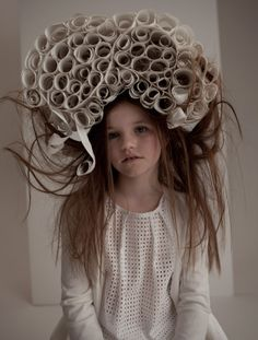 Wendall loves to take summer enrichment classes. This year her coursework included Paper Wasp Nests of Gloucestshire, Nature-Inspired Millinery, The Neutral Sophisticate, Flyaway Hair Styling, and Making the Most of Cash Register Tape Advertising. Pretty obvious, isn't it?