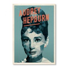 Audrey Hepburn Geometric Poster Print