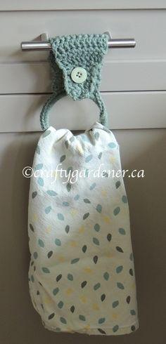 Free Crochet Pattern for a Towel Ring | craftygardener.ca