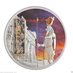 Horus Egyptian Jewels with Gold Palladium Gemstone 2012 Fiji 2 oz