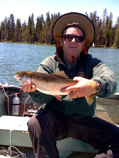 Nice Rainbow trout at Gold Lake, a motor free lake. Great for kayaks, canoes, and paddle boards.