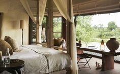 Singita Boulders is a luxury South African safari lodge. Singita Boulders Lodge is located in the game-rich Sabi Sand Game Reserve and offers 12 stylish villas. Top Hotels, Best Hotels, All Inclusive Resorts, Hotels And Resorts, Safari Home Decor, Estilo Colonial, Kruger National Park, African Safari, Lodges