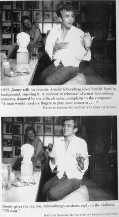James Dean telling a joke. Old Hollywood Actors, Hollywood Stars, Classic Hollywood, Rebel, James Dean Photos, Men Are Men, Jimmy Dean, Actor James, The Little Prince