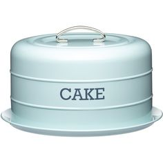Living Nostalgia Vintage Blue Domed Cake Tin ($33) ❤ liked on Polyvore featuring home, kitchen & dining and kitchen craft