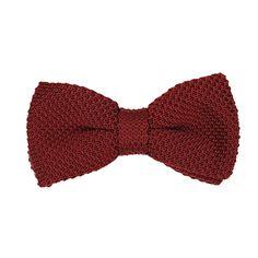 Noeud papillon tricot rouge bordeaux