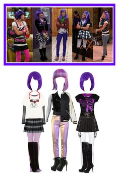 """""""Lola Luftnagle - Purple Wig"""" by everysimpleplan ❤ liked on Polyvore featuring 10 Crosby Derek Lam, Hell Bunny, Burberry, French Toast, McQ by Alexander McQueen, Boohoo, Tom Ford and disney"""