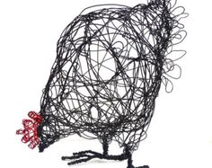 Would you like to make your own wire hen sculpture? This step-by-step instruction booklet with over 20 photos will guide you through the method I used to make my wire sculptures. Sculptures Sur Fil, Animal Sculptures, Sculpture Art, Wire Sculptures, Sculpture Garden, Sculpture Projects, Abstract Sculpture, Bronze Sculpture, Chicken Wire Art