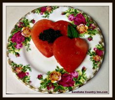 cut watermelon hearts with cookie cutter. Blend 1 cup fresh mint leaves with cup sugar for sugar mint garnish. B Innkeeper Forum Cut Watermelon, Fresh Mint Leaves, Cookie Cutters, Panna Cotta, Cookies, Fruit, 1 Cup, Eat, Ethnic Recipes