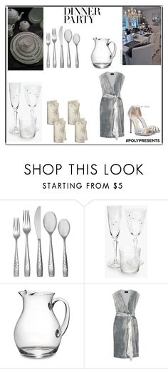 """#PolyPresents: Dinner Party"" by irockcrowns ❤ liked on Polyvore featuring interior, interiors, interior design, home, home decor, interior decorating, Prouna, Zara Home, St. Nicholas Square and J.Crew"