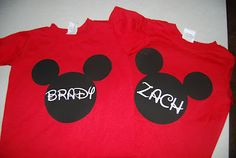 Mickey Mouse T-shirt~ got em' for babies for our next trip!