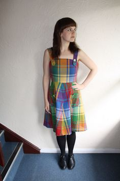Checked Sun Dress www.fromluluwithlovevintage.com