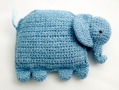 Amigurumi Elephant Pillow- Free Pattern ( click Instructions)