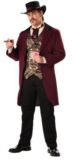 riverboat gambler | Riverboat Gambler Adult Costume - Casino and Gambler Costumes