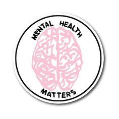 I originally made this just because I wanted a simpler, straight to the point mental health matters sticker. I have been so happy to see and hear how much everyone has appreciated it and support mental health advocacy! Mental Health Advocacy, Mental Health Matters, Mental Health Foundation, Health Goals, Health Motivation, Red Bubble Stickers, Cute Stickers, Tumblr Stickers, Pin And Patches