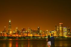 Fragola Productions Chicago Engagement Photographer Photography skyline planetarium