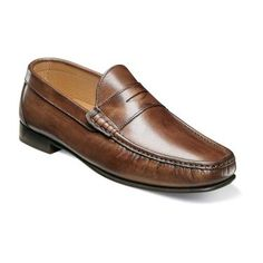 Hand stitched in Italy, the Florsheim Imperial Ribeiro Penny is a handsome loafer designed for men of high taste. These moc toe beauties are soft to the touch, boasting traditional beef roll details beside a stately penny slot. Handcrafted in Italy Upper: Full-grain leather Linings: Breathable leather Insole: Non-removable fully cushioned footbed Sole: Genuine leather