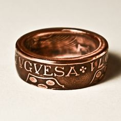 Ring made from a 1971 Portuguese coin from theringtree