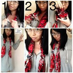 Knot Just A Scarf Tutorial #32: Knotted Neck Drape.