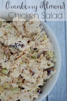 Cranberry Almond Chicken Salad  LuvaBargain.com