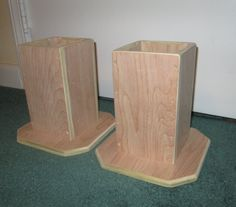 Dorm Room Bed Risers 6 Inch All Wood Construction by Odyssey359