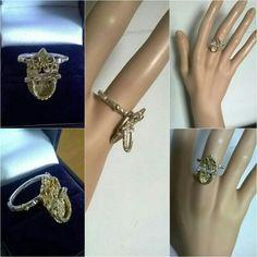 Caron Power Jewellery on Etsy Victorian doorknocker ring