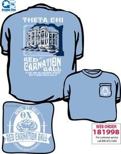 theta chi red carnation shirt by james