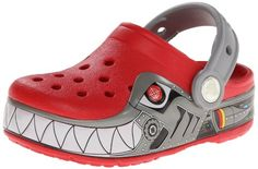 crocs CrocsLights Robo Shark PS Clog (Toddler/Little Kid),Red/Silver,8 M US Toddler Crocs http://www.amazon.com/dp/B00DURHYBS/ref=cm_sw_r_pi_dp_y9X1tb1F1XBRPPRH