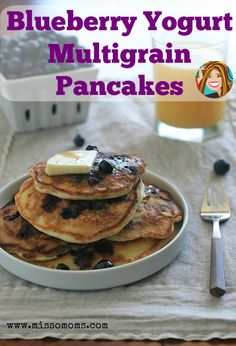 Wake up Sunday morning to these delicious blueberry yogurt multi-grain pancakes. You breakfast guest will love them!
