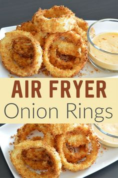 out this delicious Air Fryer Onion Rings Recipe! - Check out this delicious Air Fryer Onion Rings Recipe! -Check out this delicious Air Fryer Onion Rings Recipe! - Check out this delicious Air Fryer Onion Rings Recipe! Air Fryer Oven Recipes, Air Frier Recipes, Air Fryer Dinner Recipes, Air Fryer Recipes Potatoes, Air Fryer Recipes Vegetables, Healthy Vegetables, Veggies, Easy Dinner Recipes, Air Fryer Chicken Recipes