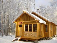 cordwood / log end porch