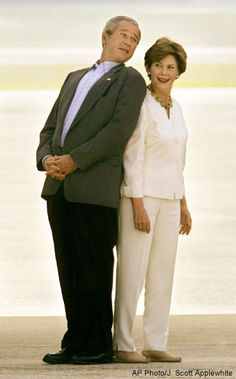 My favorite, George and Laura Bush