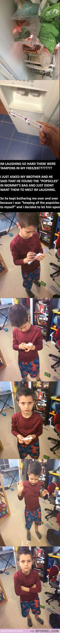 Little Brother Learned About Tampons The Hard Way…