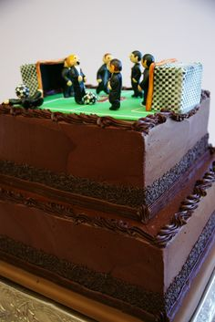 Groom's Soccer Cake    -Wedding by Style & Grace Events Austin