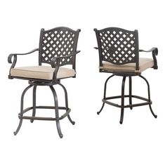 Shop allen + roth Brookdale Aluminum Patio Swivel Counter Height Dining Chairs (Set of at Lowe's Canada. Find our selection of outdoor dining chairs at the lowest price guaranteed with price match. Outdoor Dining Chairs, Dining Chair Set, Outdoor Furniture, Outdoor Decor, Allen Roth, Aluminum Patio, Bar Stools, Counter, Lowe's Canada