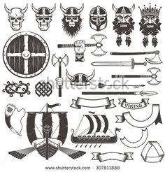 Viking Skull In Horned Celtic Helmet Tattoo photo - 3