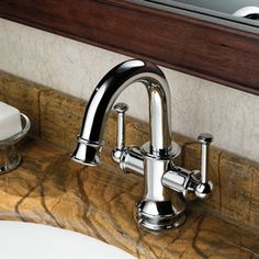Contemporary Solid Brass Bathroom Sink Tap Chrome Finish T0559
