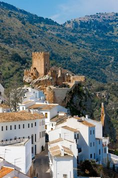 Castle Ruin Over Zuheros City Andalucia Spain Europe Cordoba Andalucia, Andalucia Spain, The Places Youll Go, Places To See, Places In Spain, Spain And Portugal, Spain Travel, Malaga, Places To Travel