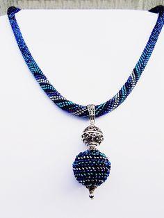 """SHINE. """"LAZUROWA LAGUNA """"  Magiczny Naszyjnik w  Biżuteria ze Szczyptą  Magii * by SHINE na DaWanda.com"""
