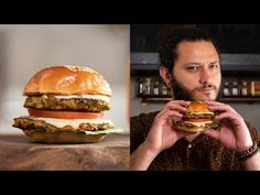 O MELHOR HAMBÚRGUER VEGETARIANO | Receitas Vegetarianas | Rafael Ribas - YouTube Sin Gluten, Hamburger Vegetariano, Quinoa, Meals, Chicken, Ethnic Recipes, Youtube, Food, Delicious Sandwiches