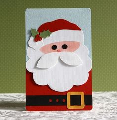 christmas card handmade | handmadeChristmas card: Silhouette Santa Card by dedernc3 (debbie …
