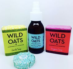 Natural skincare products by Wild Oats Wild Oats, Natural Skin Care, Skincare, Soap, Personal Care, Bottle, Handmade, Products, Hand Made