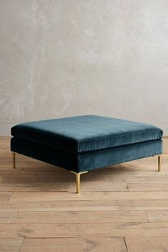 Boasting clean lines and neat proportions, these linen and velvet-upholstered ottoman re-imagines modern Italian design. Accent Furniture, Furniture Decor, Furniture Design, Dream Furniture, Funky Furniture, Anthropologie Furniture, Upholstered Ottoman, Dream Decor, Fashion Room