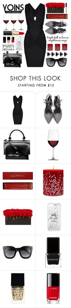 """*Yoins 45*"" by mayblooms ❤ liked on Polyvore featuring Nachtmann, Sloane Stationery, Acqua di Parma, Kate Spade, Gucci, Context, Witchery, Chanel and NYX"