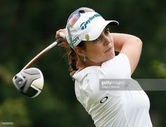 Beatriz Recari of Spain watches her drive on the 17th hole during the second round of the Marathon Classic presented by Owens Corning and O-I at Highland Meadows Golf Club on July 18, 2014 in Sylvania, Ohio.