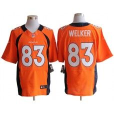 Nike Wes Welker Jersey Elite Team Color Orange Denver Broncos #83